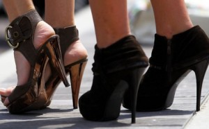 Избор на обувки с високи токчета
